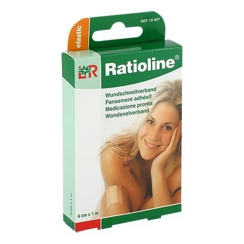RATIOLINE elastic Wundschnellverband 6 cmx1 m 1 Stück