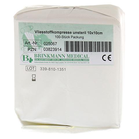VLIESSTOFF-KOMPRESSEN 10x10 cm unsteril 4fach 100 Stück