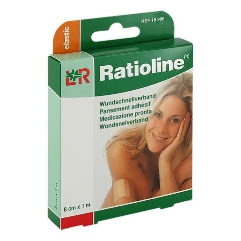 RATIOLINE elastic Wundschnellverband 8 cmx1 m 1 Stück