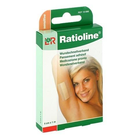 RATIOLINE sensitive Wundschnellverband 4 cmx1 m 1 Stück