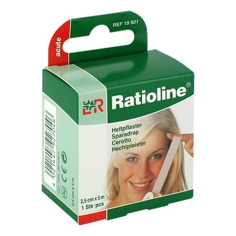 RATIOLINE acute Heftpflaster 2,5 cmx5 m 1 Stück