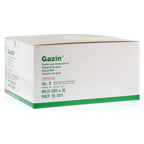 GAZIN Tupfer pflaumengroß steril Gr.3 20fädig 30x3 Stück