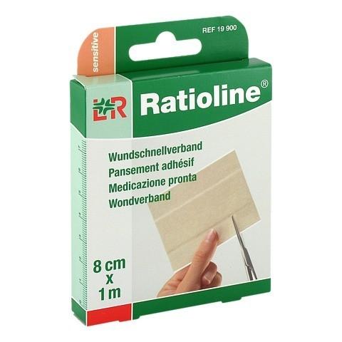 RATIOLINE sensitive Wundschnellverband 8 cmx1 m 1 Stück