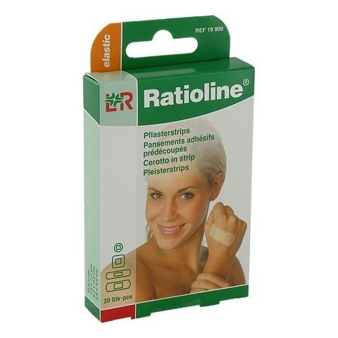 RATIOLINE elastic Pflasterstrips in 4 Größen 20 Stück
