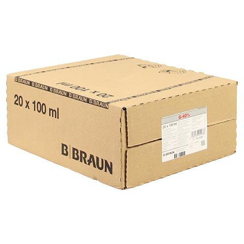 GLUCOSE 40% B.Braun Infusionslösungskonzentrat 20x100 Milliliter