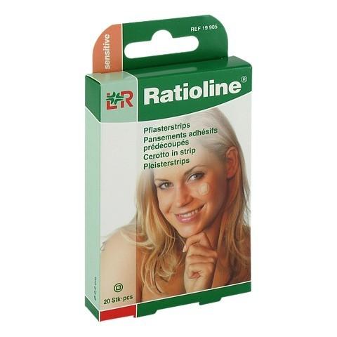 RATIOLINE sensitive Pflasterstrips rund 20 Stück