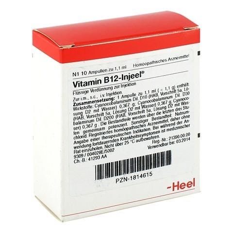 VITAMIN B12 Injeel Ampullen 10 Stück