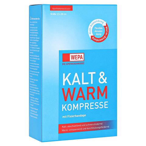 KALT-WARM Kompresse 12x29 cm mit Fixierband 1 Stück