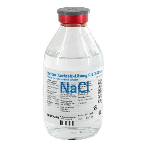 KOCHSALZLÖSUNG 0,9% Glasfl. 250 Milliliter N1