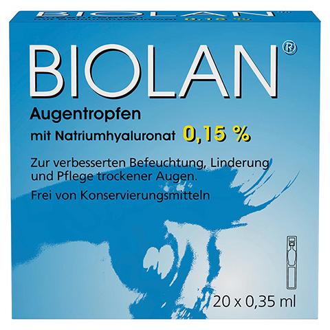 BIOLAN Augentropfen Einzeldosispipetten 20x0.35 Milliliter