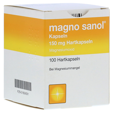 MAGNO SANOL Hartkapseln 100 Stück N3