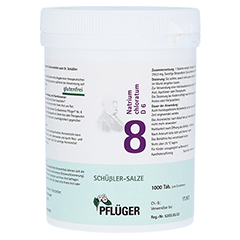 BIOCHEMIE Pflüger 8 Natrium chloratum D 6 Tabl. 1000 Stück