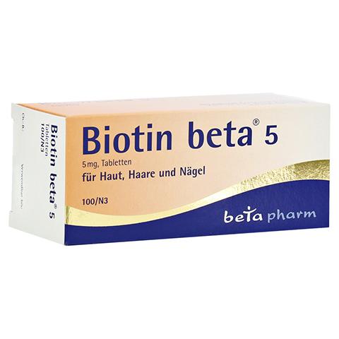 BIOTIN BETA 5 Tabletten 100 Stück N3