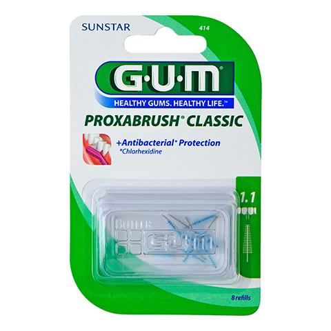GUM Proxabrush Ersatzbürsten 0,5 mm Tanne 8 Stück
