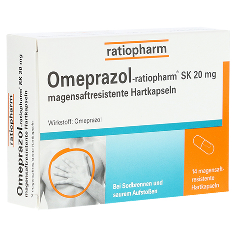 Omeprazol-ratiopharm SK 20mg 14 Stück