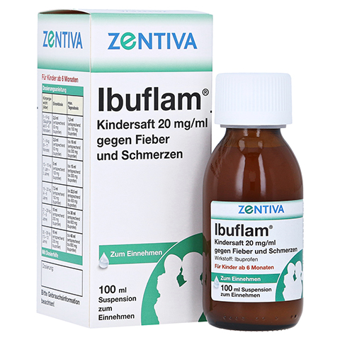 Ibuflam Kindersaft 20mg/ml gegen Fieber und Schmerzen 100 Milliliter N1
