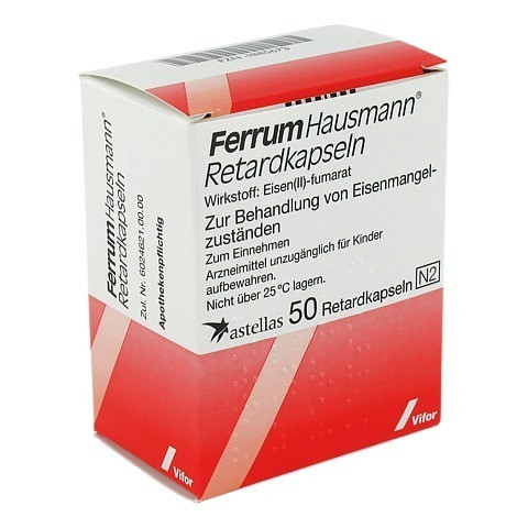 Ferrum Hausmann 100mg Eisen 50 Stück N2