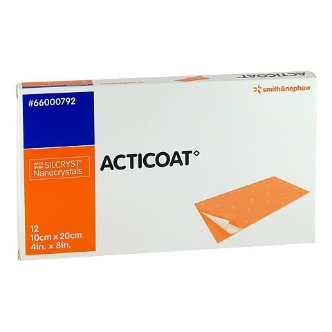 ACTICOAT 10x20 cm antimikrobielle Wundauflage 12 Stück