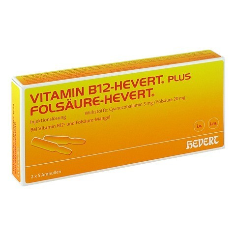 Vitamin B12 Folsäure Hevert Amp.-Paare 2x5 Stück N1