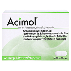 ACIMOL mit pH Teststreifen Filmtabletten 96 Stück N3 - Vorderseite