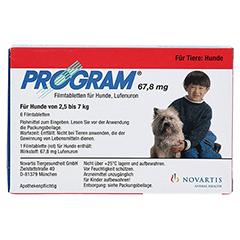 PROGRAM 67,8 mg 2,5-7 kg Tabl.f.Hunde 6 Stück - Vorderseite