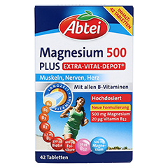 Abtei Magnesium 500 Plus 42 Stück - Vorderseite