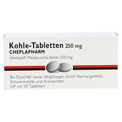 Kohle-Tabletten 250mg 50 Stück - Vorderseite