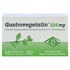 Gastrovegetalin 225mg 50 Stück N2 - Vorderseite