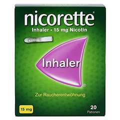 Nicorette Inhaler 15mg 20 Stück - Vorderseite