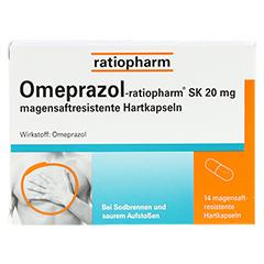 Omeprazol-ratiopharm SK 20mg 14 Stück - Vorderseite