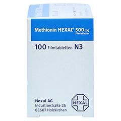 METHIONIN HEXAL 500 mg Filmtabletten 100 Stück N3 - Linke Seite