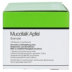 Mucofalk Apfel Beutel 100 Stück - Linke Seite