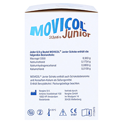 Movicol Junior Schoko 30x6.9 Gramm - Linke Seite