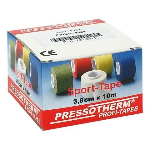 PRESSOTHERM Sport-Tape 3,8 cmx10 m rot 1 Stück
