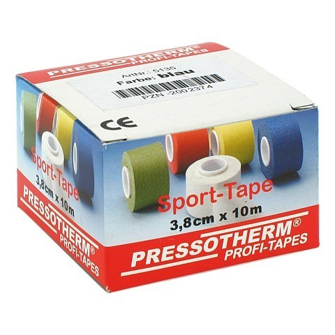 PRESSOTHERM Sport-Tape 3,8 cmx10 m blau 1 Stück