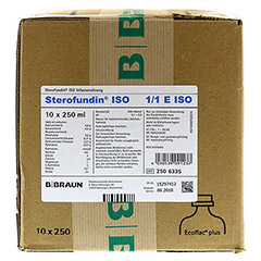 STEROFUNDIN ISO Ecoflac Plus Infusionslösung 10x250 Milliliter N2 - Vorderseite