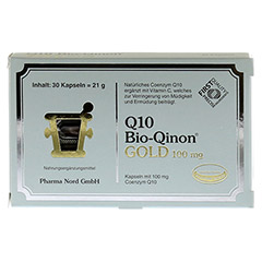 Q10 BIO Qinon Gold 100 mg Pharma Nord Kapseln 30 Stück - Vorderseite