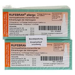 RUFEBRAN allergo Ampullen 100 Stück N3 - Vorderseite