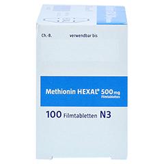 METHIONIN HEXAL 500 mg Filmtabletten 100 Stück N3 - Rechte Seite
