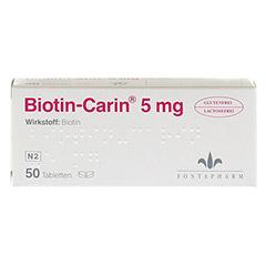 BIOTIN-CARIN 5 mg Tabletten 50 Stück - Vorderseite