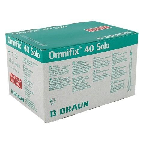 Omnifix Solo 40 Insulin EinmalSpritzen 100x1 Milliliter