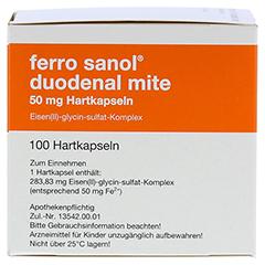 Ferro sanol duodenal mite 50mg 100 Stück N3 - Rechte Seite