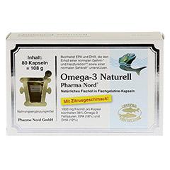 OMEGA 3 Naturell Pharma Nord Kapseln 80 Stück - Vorderseite