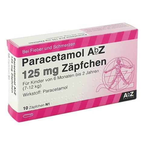 Paracetamol AbZ 125mg 10 Stück N1