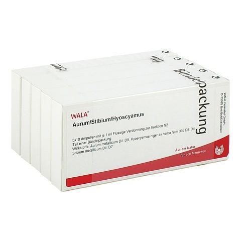 AURUM/STIBIUM/Hyoscyamus Ampullen 50x1 Milliliter N2