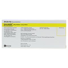 Kalinor Brausetabletten 2x15 Stück N1 - Rückseite