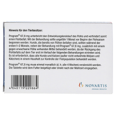 PROGRAM 67,8 mg 2,5-7 kg Tabl.f.Hunde 6 Stück - Rückseite
