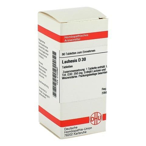 LACHESIS D 30 Tabletten 80 Stück