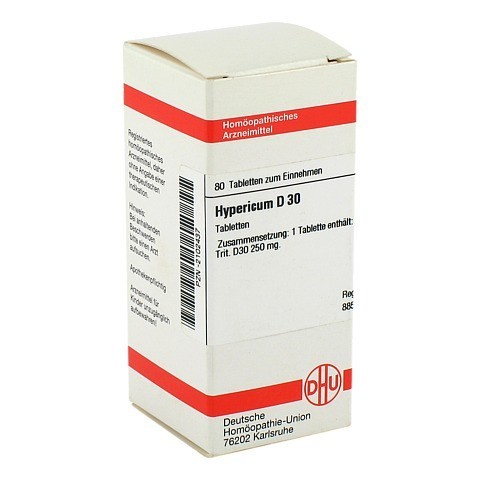 HYPERICUM D 30 Tabletten 80 Stück