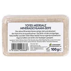 TOTES MEER SALZ Mineral Schlamm Seife 100 Gramm - Rückseite